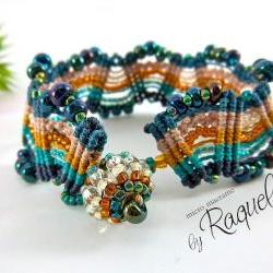 Missoni Inspired Micro Macrame Bracelet TUTORIAL 