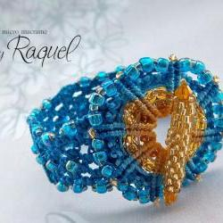 Micro Macrame TUTORIAL Bracelet &amp;quot;Wheel&amp;quot;